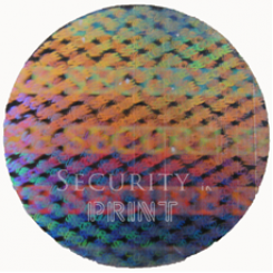 Round 18mm Silver Self-Adhesive Hologram Security Sticker C18-1S